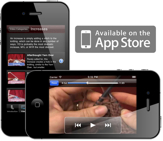 Knitting Video Reference iPhone App | KnittingHelp com